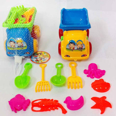 15cm 11 Pieces Set Small Beach Toys Summer Play for Children Outdoor Games
