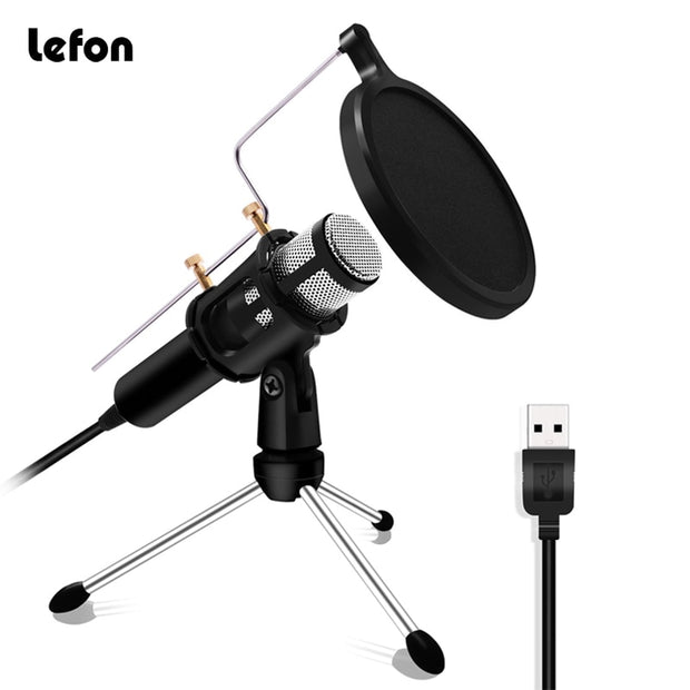Professional Microphone Condenser for Computer Laptop odcasting Recording
