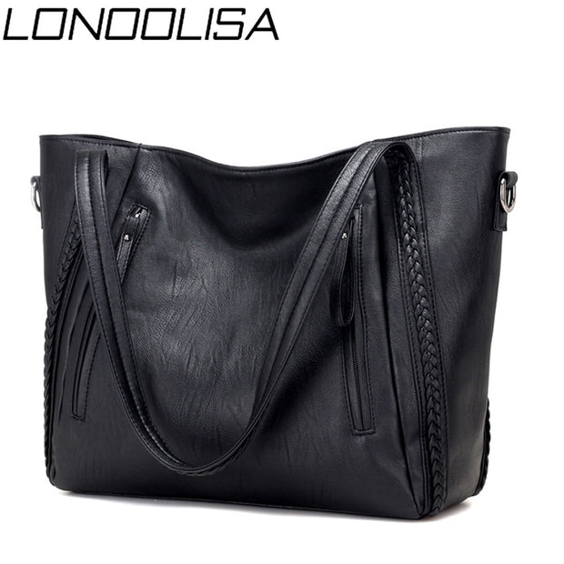 Women Soft Leather Designer Shoulder Travel Bag