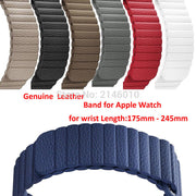 Apple Watch Replacement Genuine Leather Magnetic Loop Band Strap