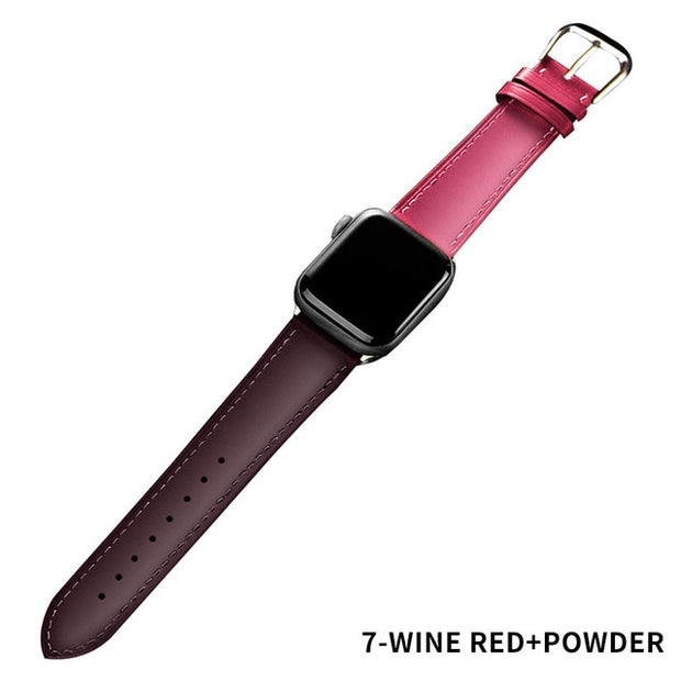 Apple Watch Men Leather Band Loop Strap Bracelet