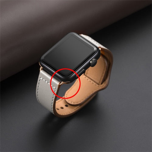 Genuine leather loop strap for apple watch band