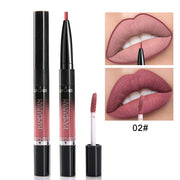 Premium long-lasting moisturizing liquid lipsticks & lip liner 2 in 1 pencil waterproof Lip Gloss