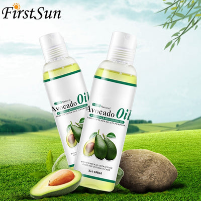 100% Organic Cold Pressed Avocado Oil for Hair Face Body massage Skin Moisturizer