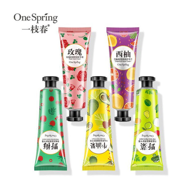 Plants Based Hand Cream 5pcs Moisturizing Nourishing Anti Chapping Oil Control Hand Care