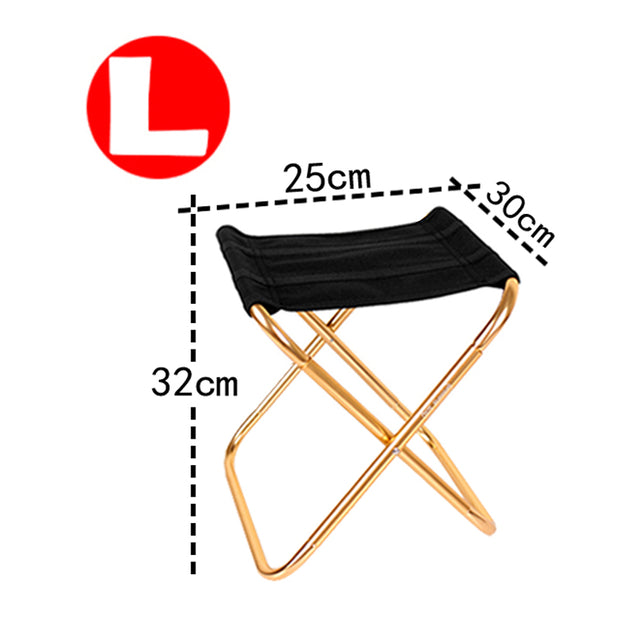 Chair Lightweight Fishing Picnic Camping Foldable Aluminium Cloth