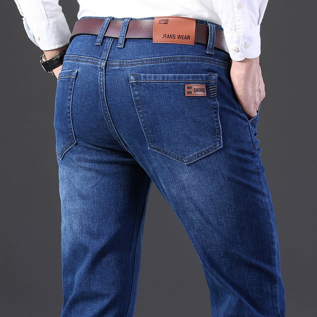 Men High Quality Plus Size Casual Slim Stretch Jeans