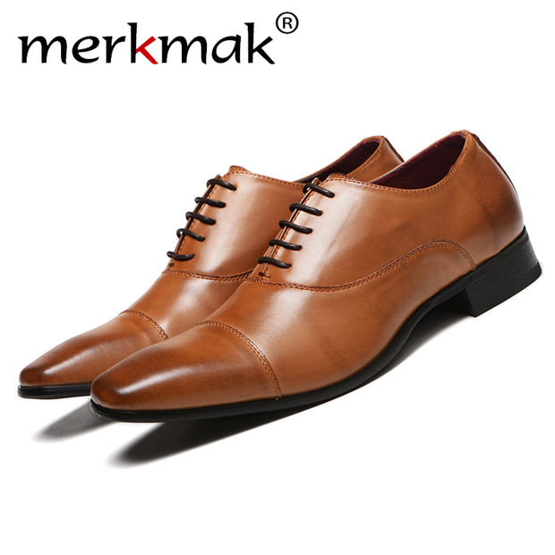 Men Shoes 2020 High Quality New Spring Dress Business Shoes