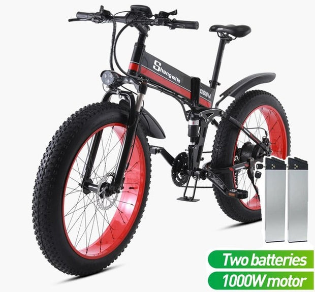 Electric Adult  Mountain Snow Bike 26 inch 4.0 Fat tire folding