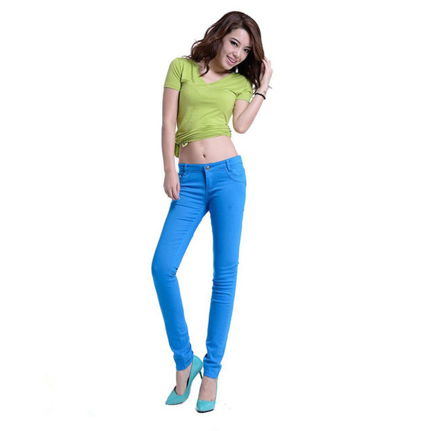 Women Cotton skinny jeans