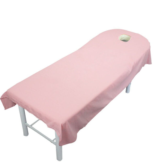 Massage Spa Cosmetic Salon Table Sheets with Hole