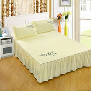 Bedspread Solid Color Printed Fabric With Strap