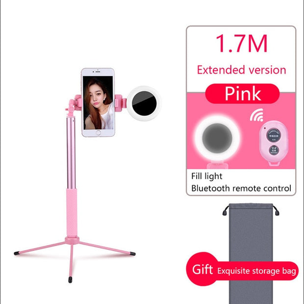 Selfie Stick  Universal 3 in 1 Handheld Tripod Bluetooth Remote Extendable Monopod