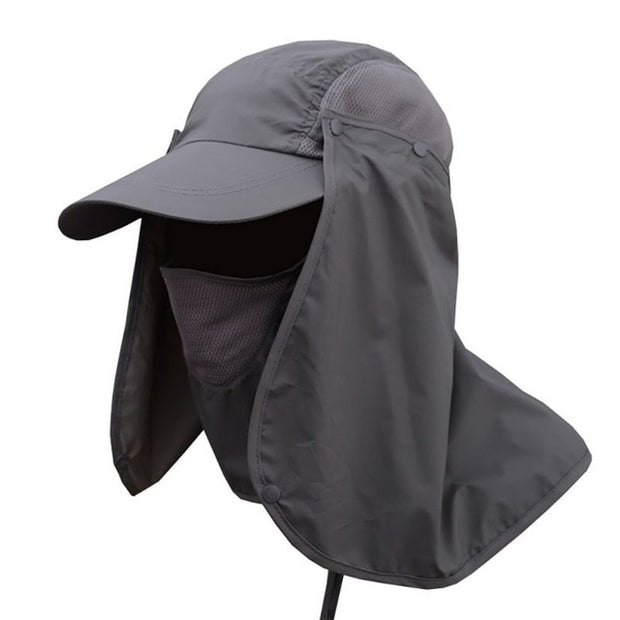 Unisex UV Protection Face Neck Flap Sun Cap