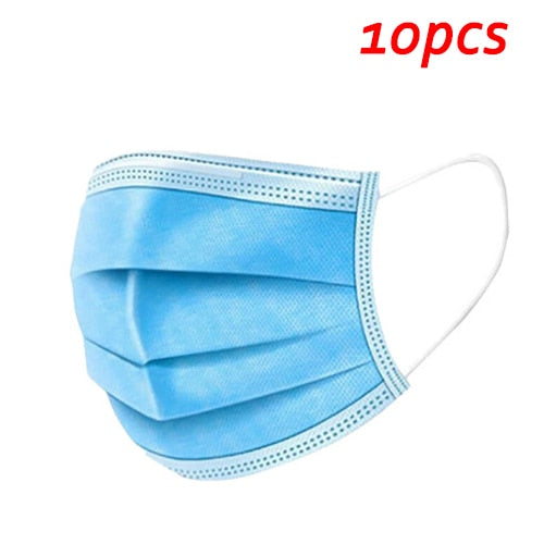 Dustproof Mask Breathable 3-Layer Mouth Face Masks For Face Shield Protection Disposable Meltblown Cloth masks fast delivery