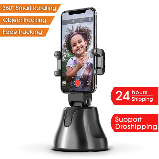Auto Smart Shooting Selfie Stick 360° Object Tracking Holder All-in-one Rotation