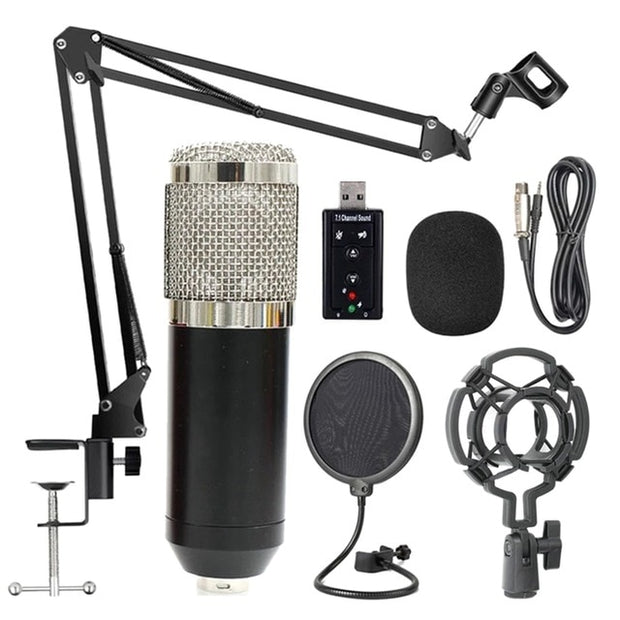 Professional Suspension Microphone Kit Studio Live Broadcasting Recording