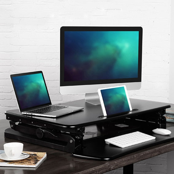 EasyUp Hight Foldable Adjustable Sit Stand Desk Riser Monitor Holder Keyboard Tray