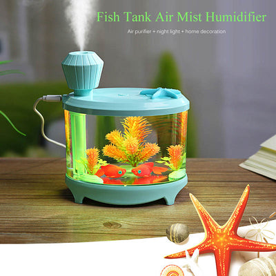 460ml USB LED Light Fish Tank Humidifiers