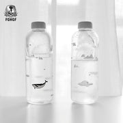 1000ml Ocean Series Seal Whale Seal Glass Water Bottle