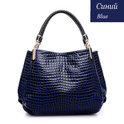 Women Crocodile Leather Luxury Brand Handbags Purse