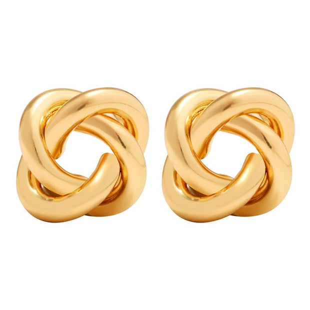 Gold Silver Color Love Knot Earrings