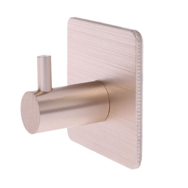 Durable Aluminum Door Hook Self Adhesive Home Wall Door Hooks
