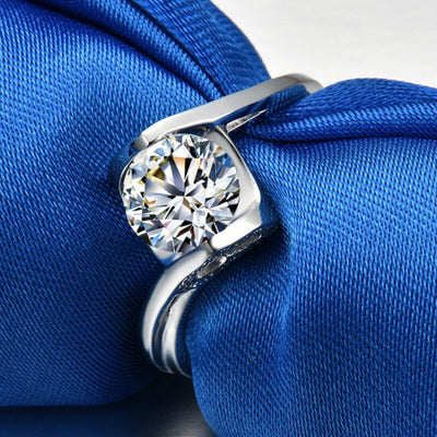 0.8ct High Quality Proposal Wedding Engagement Ring S925 Real Silver White Gold