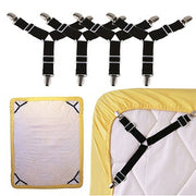 2/4 Pcs Bed Sheet Mattress Cover Grippers Clip Holder Fasteners Set