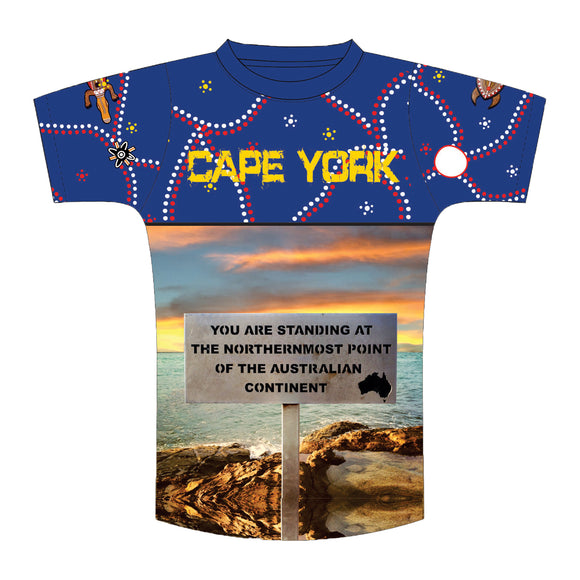 Blue Sublimated Kids T-Shirt