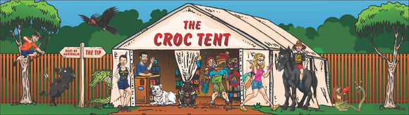 Croc Tent Sticker 195mm x 55mm