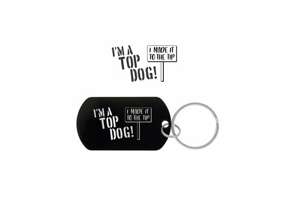 Top Dog Keyring Dog Tag
