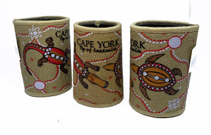 Cape York Indigenous Art Hessian Cooler