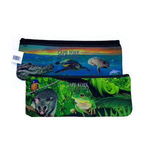 Land/Sea Large Neoprene Pencil Case