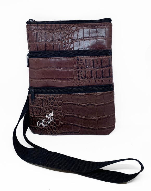Croc Skin Shoulder Bag