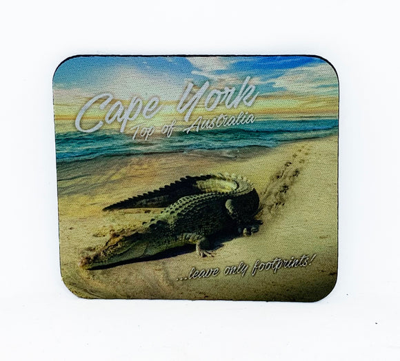 Leave Only Footprints Coaster