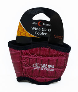Croc Skin Wine Glass Cooler