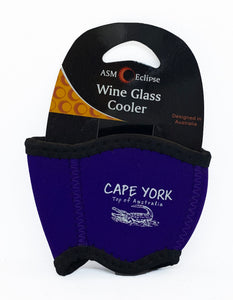 Crocodile Print Wine Glass Cooler