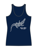Tribal Crocodile Ladies Singlet