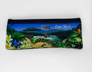 Tropical Montage Large Neoprene Pencil Case