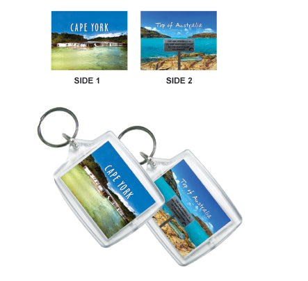 Tip/Falls Double Sided Keyring