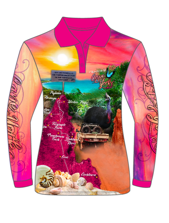 Paradise Ladies Sublimated Fishing Polo