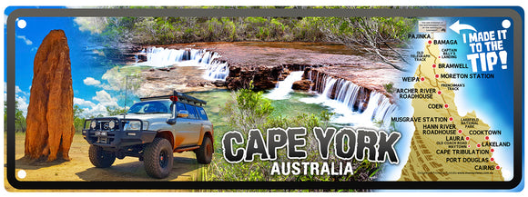 Number Plate - Collage : Map, 4WD, fruitbat Falls