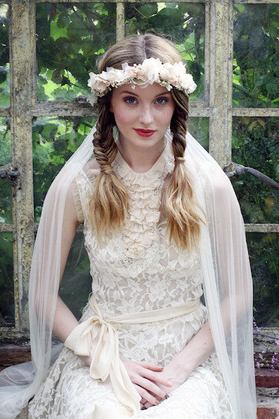 Rose with Baby's Breath Crown