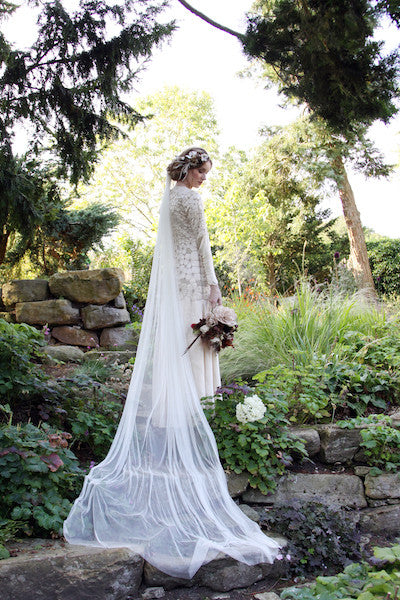 Pure Silk Cathedral Length Veil