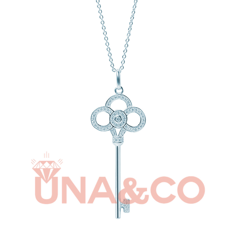 Simple Key Shape Long Necklace