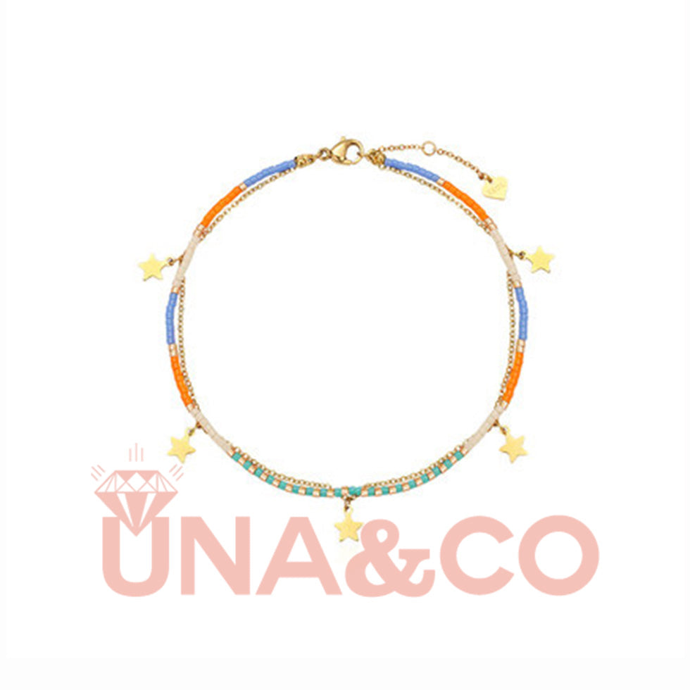 Little Stars Double Layers Colorful Anklet
