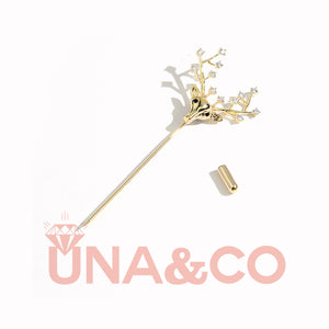 New Arrival for Christmas Deer CVD Diamond Brooch