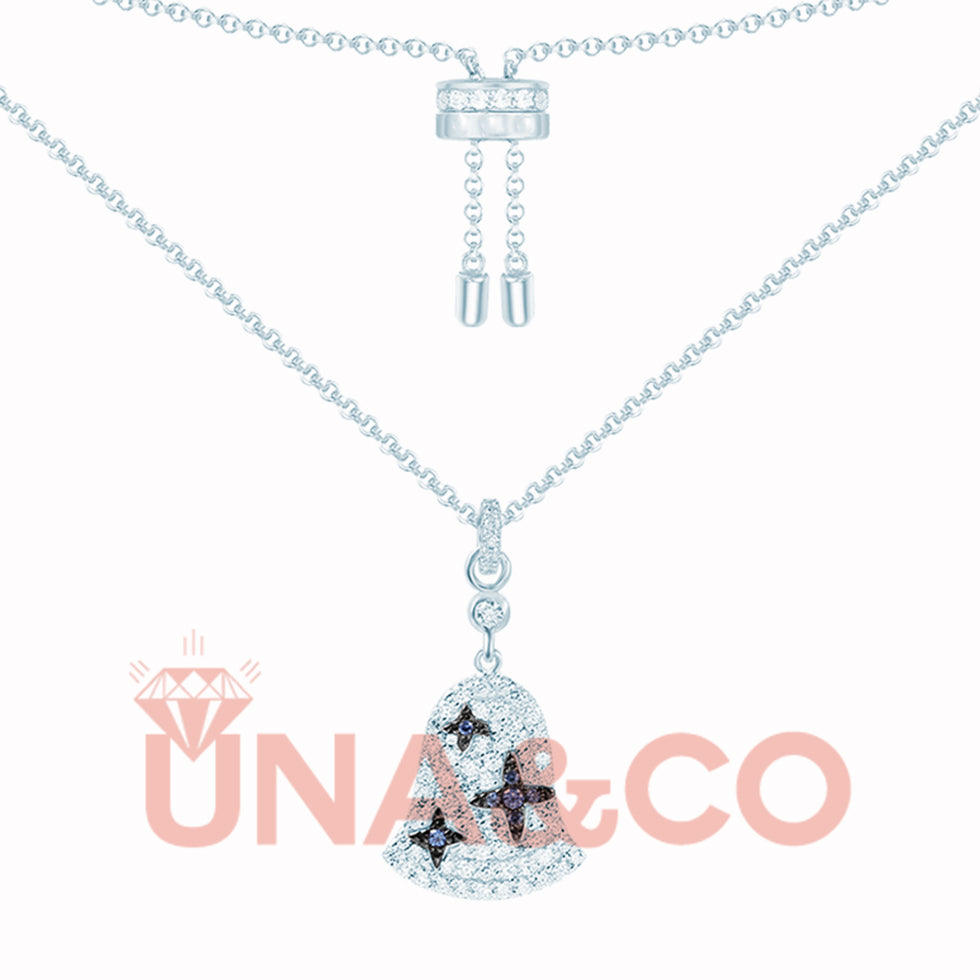Wind Bell Set With CVD Diamond Necklace