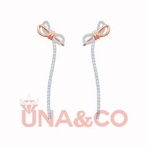 Bow Tassel Temperamental Long Earrings